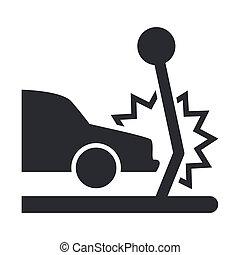 自動車, イラスト, 隔離された, 単一, アイコン, ベクトル, 衝突