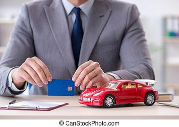 自動車, エージェント, 提供, モーター, 保険