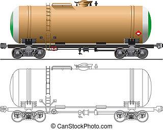 自動車, オイル, ガソリン, タンカー, /