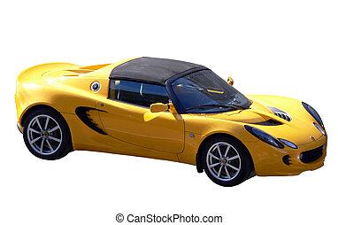 自動車, スポーツ, 黄色