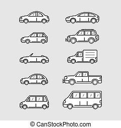 自動車, セット