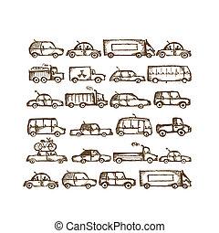 自動車, デザインを設定しなさい, あなたの, コレクション