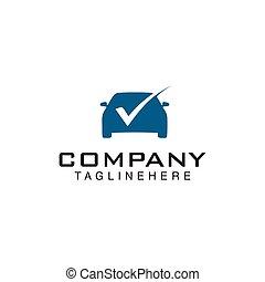 自動車, デザイン, 点検, テンプレート, ロゴ