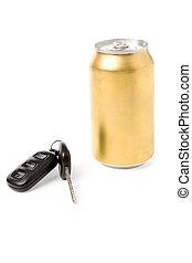 自動車, ビール, キー