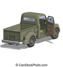 自動車, ピックアップ, 作られる 古い