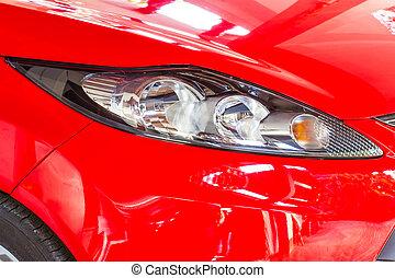 自動車, ヘッドライト, 赤