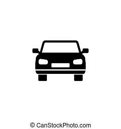 自動車, ベクトル, アイコン, 平ら