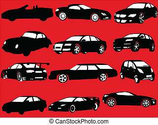 自動車, ベクトル, -, コレクション