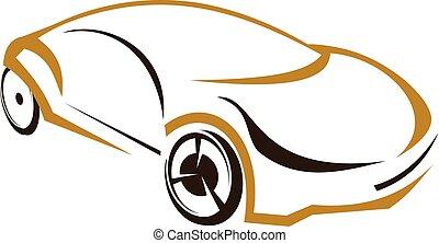 自動車, ベクトル, デザイン, テンプレート, ロゴ