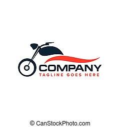 自動車, ベクトル, デザイン, モーターバイク, ロゴ