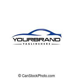 自動車, ベクトル, デザイン, ロゴ