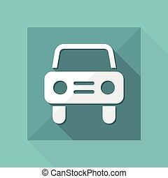 自動車, ベクトル, 平ら, アイコン