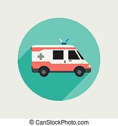 自動車, ベクトル, 救急車