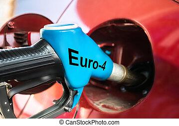 自動車, ポンプ, ガス