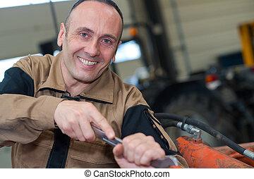 自動車, レンチ, 機械工