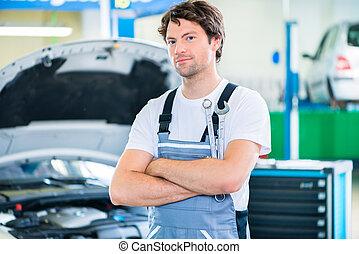自動車, ワークショップ, 機械工, 仕事