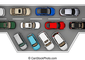 自動車, 上, 交通, 背景, 道, 光景