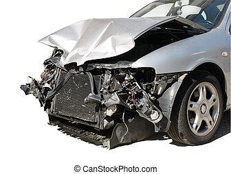 自動車, 傷つけられる, 後で, 事故