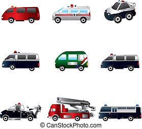 自動車, 別, ベクトル, タイプ, イラスト