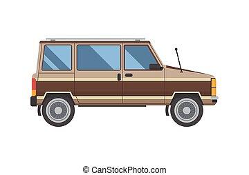 自動車, 古い, minivan