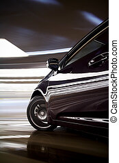 自動車, 回転, 速い