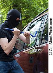 自動車, 壊れる, 泥棒
