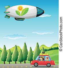 自動車, 宇宙船, 道