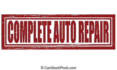 自動車, 完了しなさい, 修理