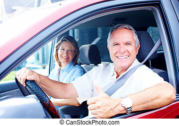 自動車, 年長の カップル
