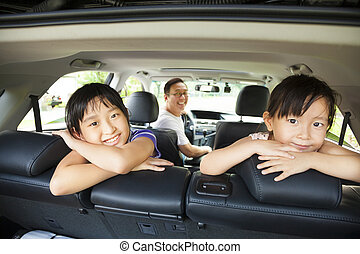 自動車, 幸せ, 家族, モデル