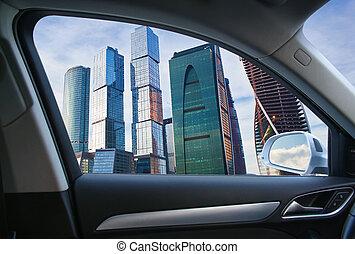 自動車, 建物, 窓