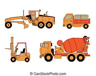 自動車, 建設, 2, セット, |