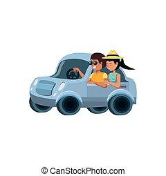 自動車, 恋人, 特徴, avatar