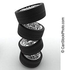 自動車, 概念, デザイン, wheels.