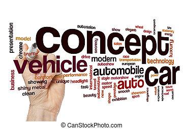 自動車, 概念, 単語, 雲