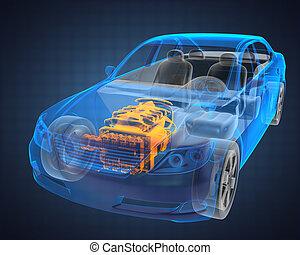 自動車, 概念, 透明