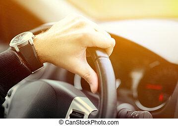 自動車, 概念, 運転, 人