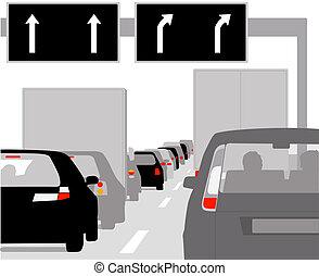 自動車, 横列, 交通渋滞