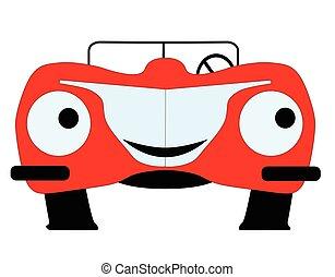 自動車, 漫画, 赤