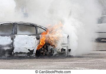 自動車, 煙