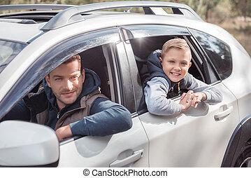 自動車, 父, 息子