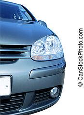 自動車, 現代, 背景, 前部, 白, 光景