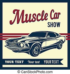 自動車, 筋肉, ポスター