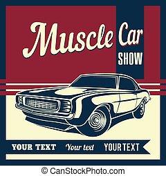 自動車, 筋肉