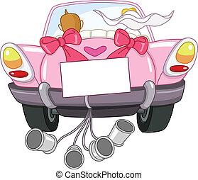 自動車, 結婚されている, ただ