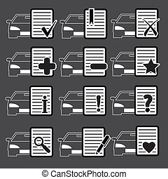 自動車, 網アイコン