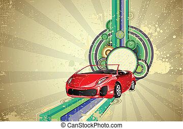自動車, 背景, 型