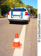 自動車, 警察, 市の, イタリア語