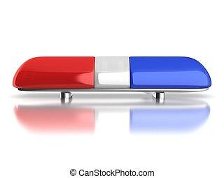 自動車, 警察, 緊急事態, ライト