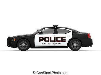 自動車, 警察, 隔離された